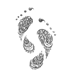 Ornamental footprint for your design vector