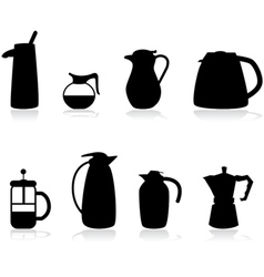 Coffee containers vector