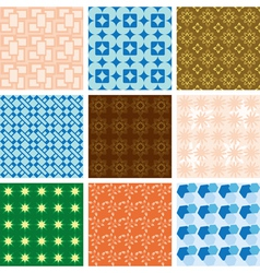 Set of patterns - geometric textures vector
