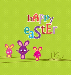 Easter bunny easter card vector