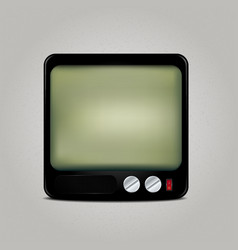 Square retro tv icon vector