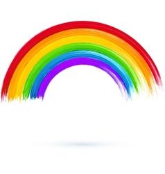 Acrylic painted rainbow vector