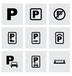 Parking icon set vector