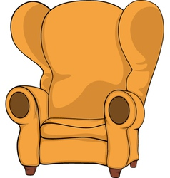 Old armchair vector