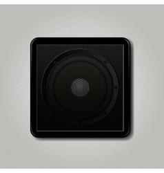 Square speaker icon vector