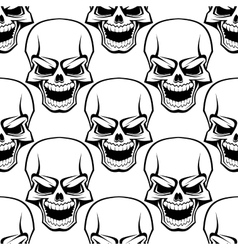 Skull seamless background pattern vector