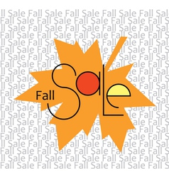 Fall sale background vector