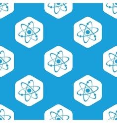 Atom hexagon pattern vector