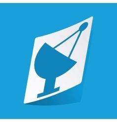 Satellite dish sticker vector