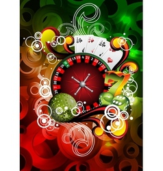 Gambling roulette wheel vector
