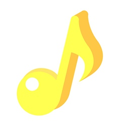 Icon musical note vector