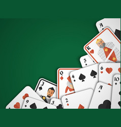 Playing cards background vector