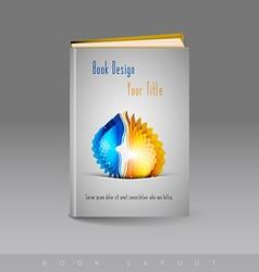 Modern abstract brochure as book vector