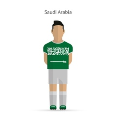 Saudi arabia football player soccer uniform vector