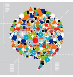 Social media diversity in technology vector
