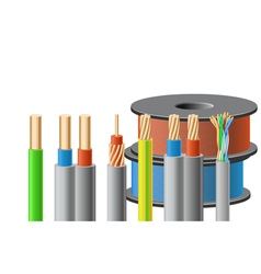 Different kinds of cables vector