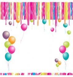 Happy birthday balloons and confetti vector