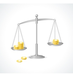 Silver justice scales and money vector