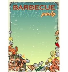 Barbecue background with space for text vector