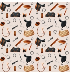 Equestrian equipment seamless vector