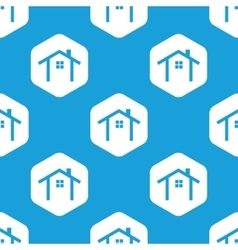 Cottage hexagon pattern vector