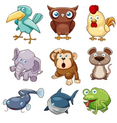 Animals set color vector