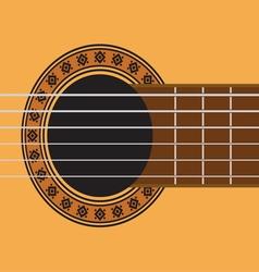 Guitar sound hole vector