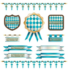 Oktoberfest ornaments vector