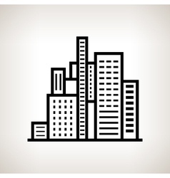Silhouette modern buildings on a light background vector