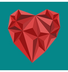 Polygon heart sign vector