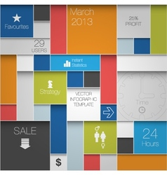 Infographic modern background vector