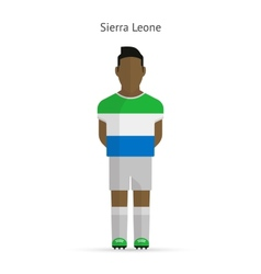 Sierra leone football player soccer uniform vector