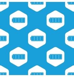 Full battery hexagon pattern vector