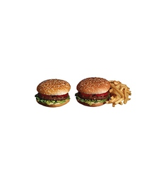 Isolated two hamburger vector