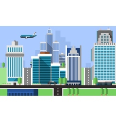 Skyscraper offices background vector