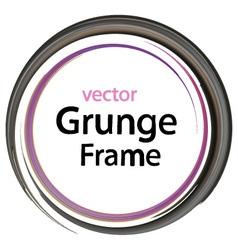 Grunge frame retro vector