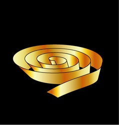 Golden ribbon scroll vector