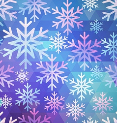 Abstract seamless snow pattern vector