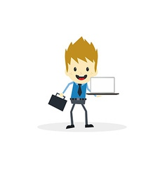 Business presentation cartoon character vector