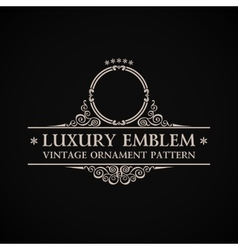 Vintage logo calligraphic elegant decor vector