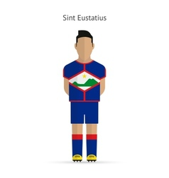 Sint eustatius football player soccer uniform vector