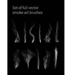 Set of full smoke brushes vector