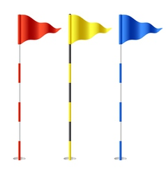 Golf flags vector