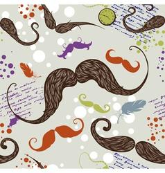 Seamless mustache vector