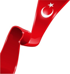 Turkey flag background vector