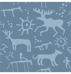 Cave art seamless pattern vector