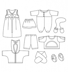 Child clothes vector