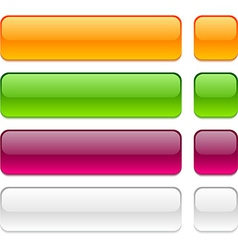 Rectangle buttons on white background vector