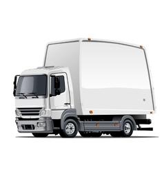 Cartoon delivery or cargo truck vector