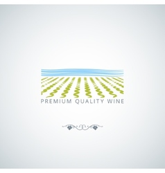 Wine field background vector